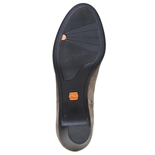 Stivaletti di pelle con tacco alto flexible, grigio, 693-2357 - 26