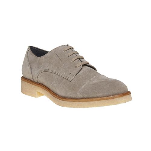Scarpe basse casual di pelle bata, grigio, 523-2262 - 13