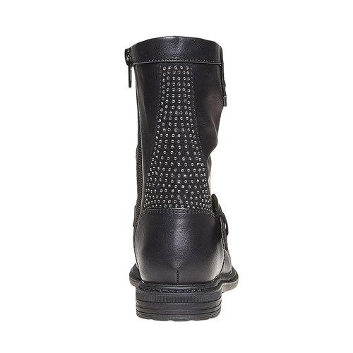 Stivali da ragazza con strass mini-b, nero, 291-6158 - 17