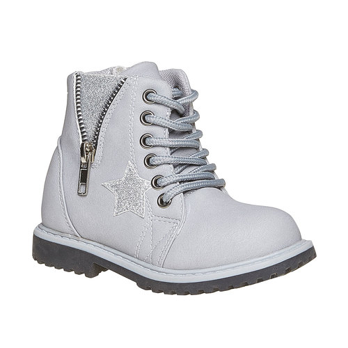 Scarpe alla caviglia da bambina con cerniera mini-b, grigio, 291-2161 - 13