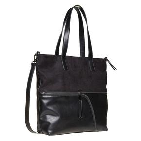 Borsetta in stile Shopper bata, nero, 961-6847 - 13