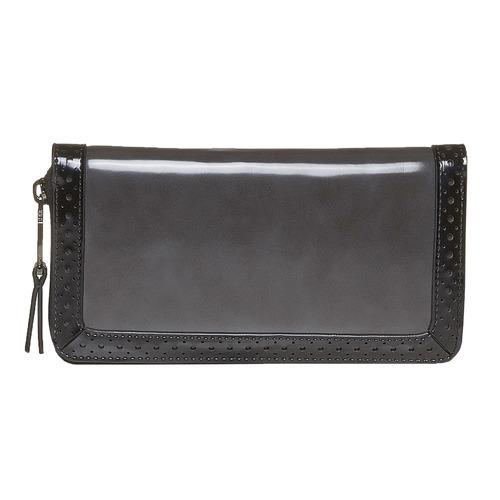 Portafoglio da donna con perforazioni bata, nero, 941-6142 - 17