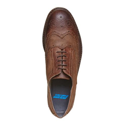 Scarpe basse da uomo in stile Oxford, marrone, 824-4677 - 19