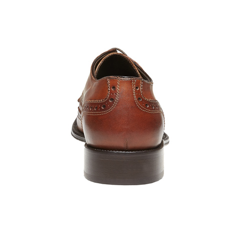Scarpe basse di pelle con decorazione Brogue bata-the-shoemaker, marrone, 824-3182 - 17