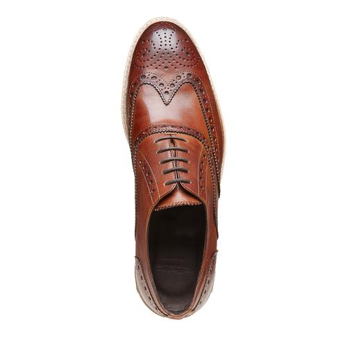 Scarpe di pelle in stile Oxford con decorazione Brogue bata-the-shoemaker, marrone, 824-3184 - 19
