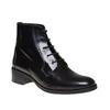 Scarpe di pelle sopra la caviglia con lacci bata, nero, 594-6100 - 13