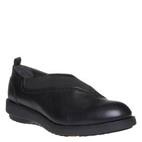 Scarpe basse in pelle da donna con elastico flexible, nero, 514-6244 - 13