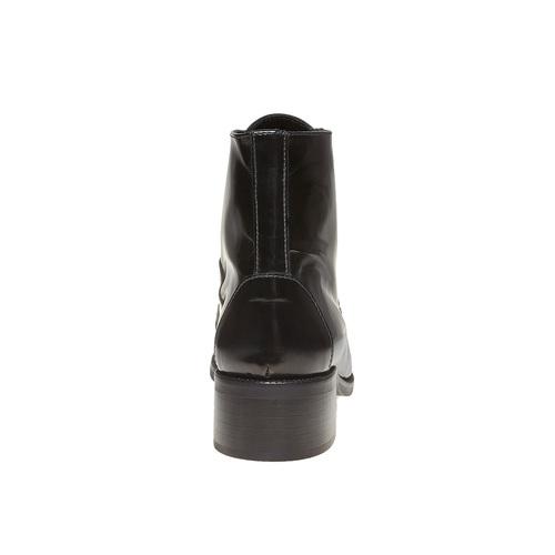 Scarpe di pelle sopra la caviglia con lacci bata, nero, 594-6100 - 17
