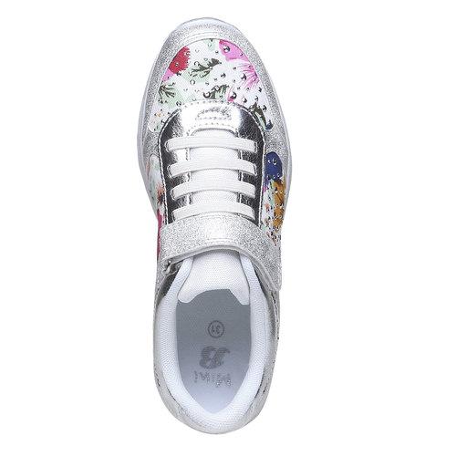 Sneakers da bambino con fiorellini mini-b, bianco, 329-1174 - 19