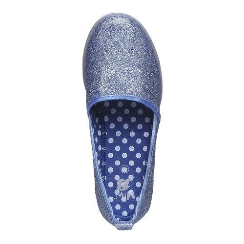 Slip-on da ragazza con glitter mini-b, viola, 329-9163 - 19