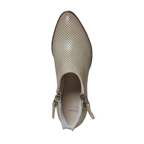 Stivaletti di pelle alla caviglia bata, beige, 594-2400 - 19