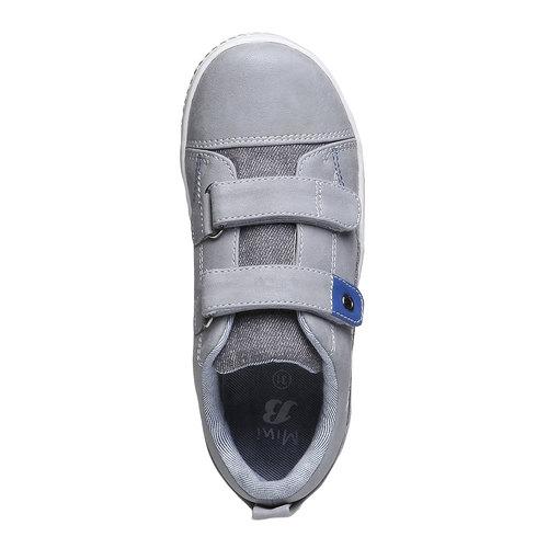 Sneakers da bambino con velcro mini-b, grigio, 211-2157 - 19