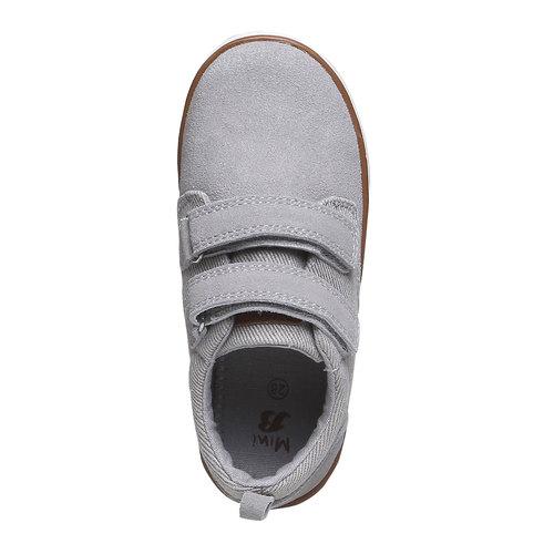 Sneakers da bambino in pelle mini-b, grigio, 313-2204 - 19