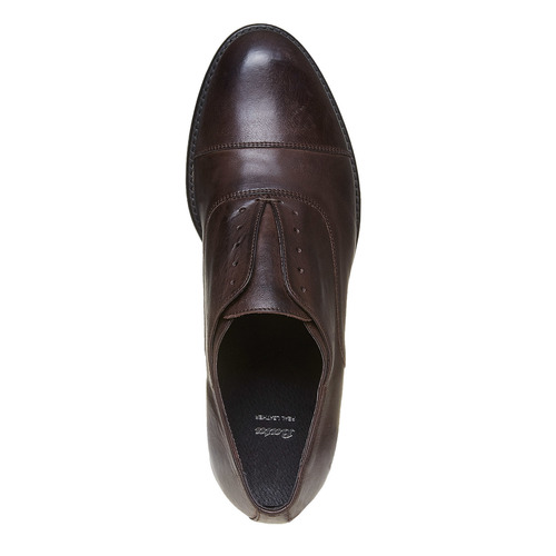 Scarpe Oxford casual in pelle bata, marrone, 824-4449 - 19