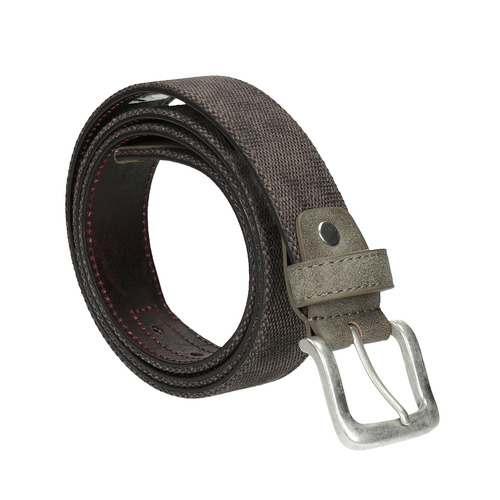 Cintura casual in tessuto bata, marrone, 959-4261 - 13