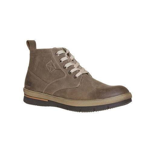 Sneakers da uomo in pelle weinbrenner, grigio, 894-2521 - 13