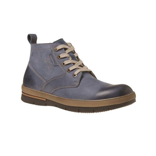 Sneakers da uomo in pelle alla caviglia weinbrenner, viola, 894-9521 - 13