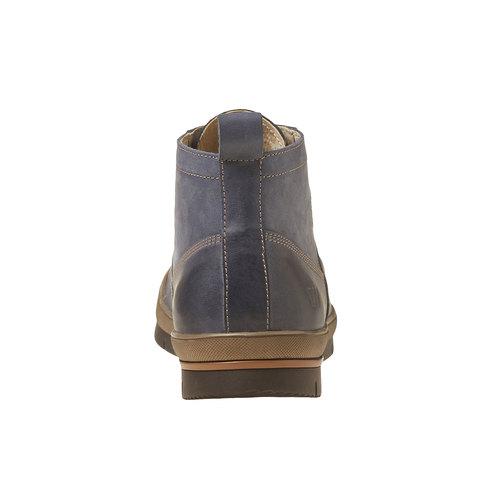 Sneakers da uomo in pelle alla caviglia weinbrenner, viola, 894-9521 - 17