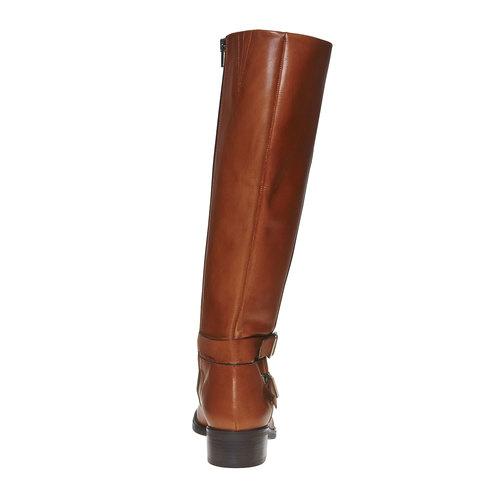Stivali di pelle con fibbie bata, marrone, 594-3585 - 17
