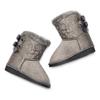 Stivali ugg da bambina con pelliccia mini-b, grigio, 299-2164 - 19