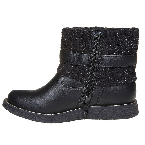 Scarpe da bambino con tessuto a maglia mini-b, nero, 291-6154 - 19