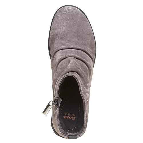 Scarpe di pelle sopra la caviglia flexible, grigio, 593-2577 - 19