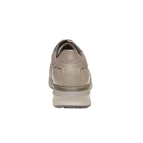 Sneakers in pelle da donna con strass flexible, giallo, 524-8223 - 17