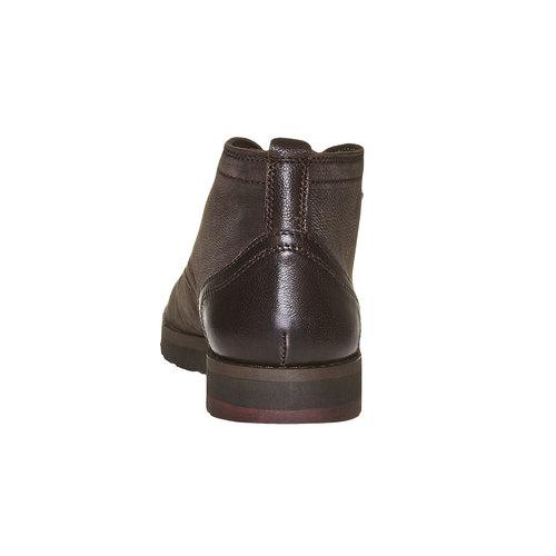 Scarpe di pelle alla caviglia bata, marrone, 894-4630 - 17