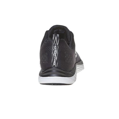 Sneakers da donna con cuciture skechers, nero, 509-6353 - 17