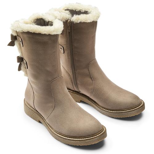 Scarpe invernali da donna con fiocco bata, grigio, 599-2994 - 19