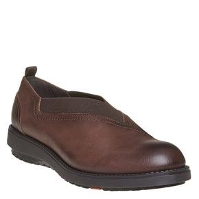 Scarpe basse in pelle da donna con elastico flexible, marrone, 514-4244 - 13