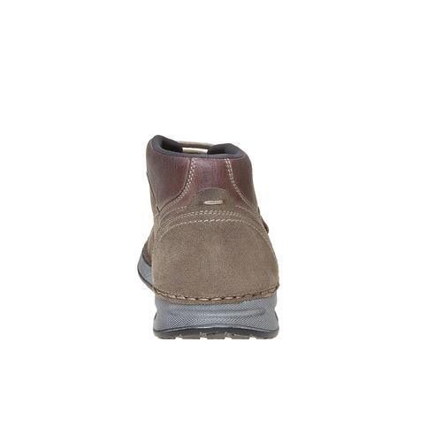 Scarpe di pelle alla caviglia bata, marrone, 843-4688 - 17