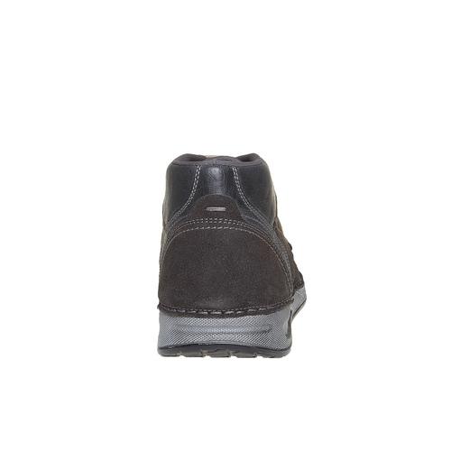 Sneakers in pelle alla caviglia bata, grigio, 843-2688 - 17