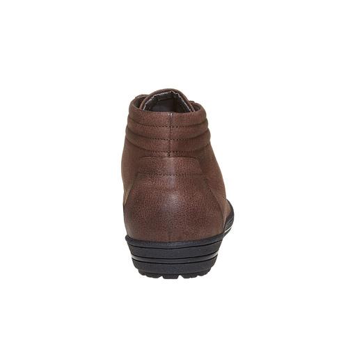 Sneakers di pelle alla caviglia bata, marrone, 594-4659 - 17