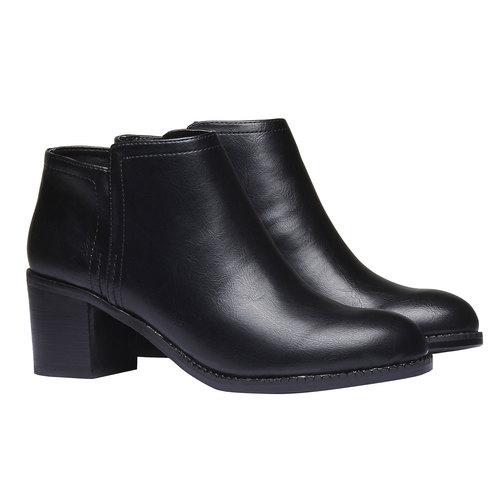 Stivaletti donna bata, nero, 691-6285 - 26