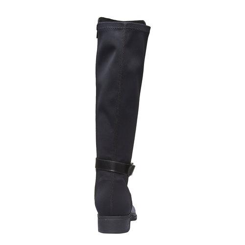 Stivali di pelle bata, nero, 594-6179 - 17