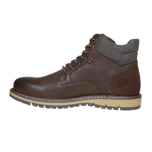 Scarpe da uomo alla caviglia, marrone, 891-4529 - 19