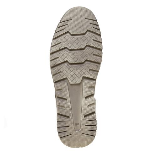 Scarpe di pelle alla caviglia bata, marrone, 844-3689 - 26