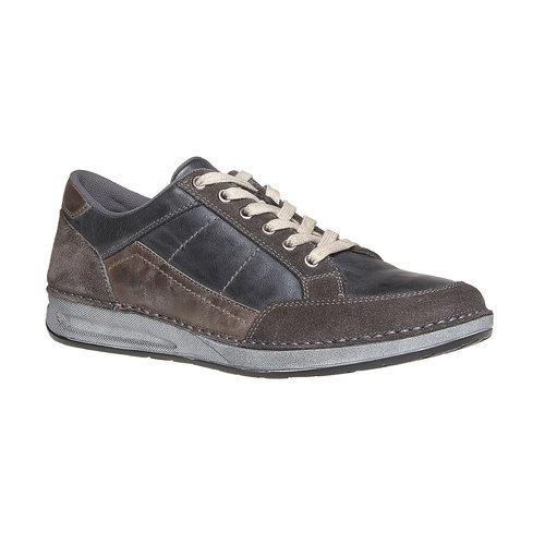 Sneakers da uomo in pelle bata, nero, 844-6690 - 13