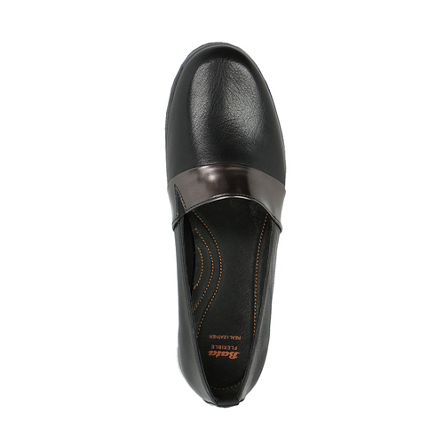 Slip-on da donna di pelle nera flexible, nero, 514-6252 - 19