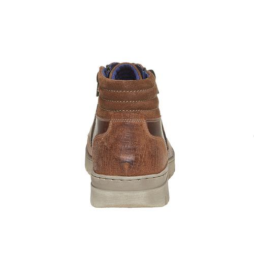 Scarpe di pelle alla caviglia bata, marrone, 844-3689 - 17