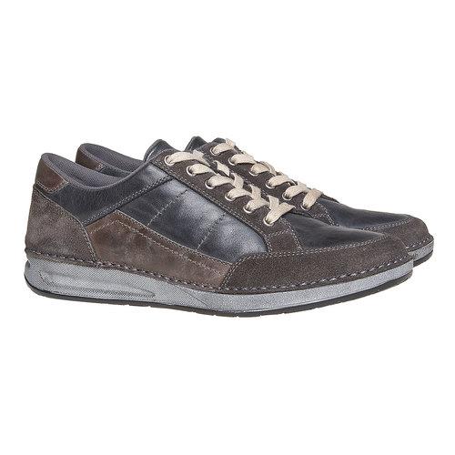 Sneakers da uomo in pelle bata, nero, 844-6690 - 26