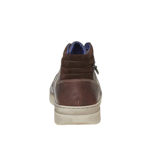 Sneakers da uomo in pelle bata, grigio, 844-2686 - 17