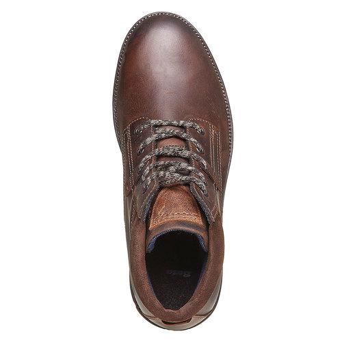 Scarpe da uomo in pelle bata, marrone, 894-4281 - 19