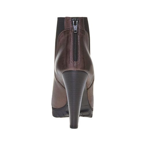 Stivaletti in pelle alla caviglia bata, grigio, 794-2596 - 17