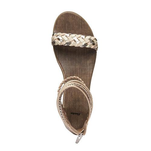 Sandali con cinturini attorno alla caviglia bata, beige, 561-8298 - 19
