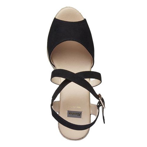 Sandali con zeppa bata, nero, 769-6544 - 19