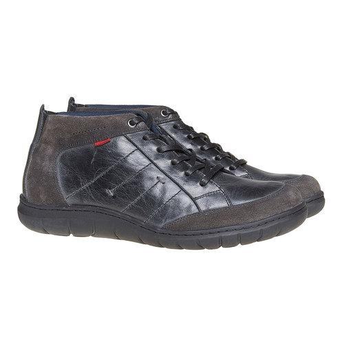 Scarpe di pelle alla caviglia bata, nero, 844-6502 - 26