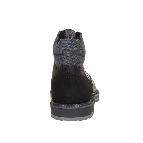 Scarpe da uomo alla caviglia, nero, 891-6529 - 17