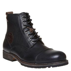 Scarpe alla caviglia da uomo in pelle bata, nero, 894-6518 - 13
